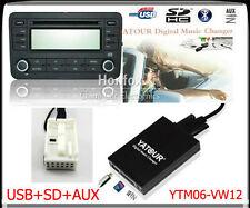 Yatour Digital CD changer 12pin for VW Audi Skoda Seat Quadlock SD USB Adapter