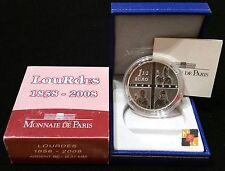 FRANCIA: 1 1/2 euro plata 2008  LOURDES 1858-2008 proof