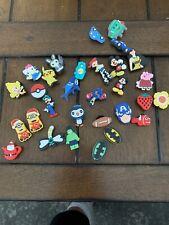 Lot Of 30 Croc Shoe Charms Pokémon Disney Batman Minion
