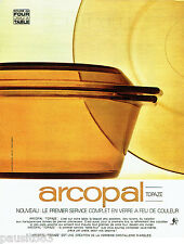 PUBLICITE ADVERTISING  016  1967  ARCOPAL  service table verre à feu