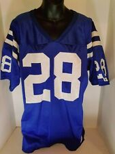 Vintage Marshall Faulk Indianapolis Colts #28 Wilson Nfl Football Jersey Blue L