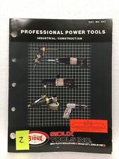 Sioux tool Catalog professional power tools cat. #841 Iowa 1980's