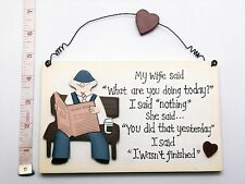 My wife said, Wall Plaque Novelty Birthday, Fathers Day Gift Ideas for Dad Him