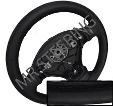 FOR VAUXHALL/OPEL SIGNUM 03-07 ITALIAN LEATHER STEERING WHEEL COVER BLACK STITCH
