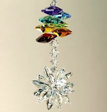 StarBurst & Chakra Octagons Suncatcher * m/w All Swarovski Crystal