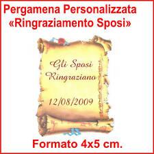 BIGLIETTI PERGAMENA 28pz - RINGRAZIAMENTO SPOSI