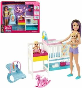 Barbie Skipper Babysitters Inc. Nap 'n Nurture Nursery Dolls Playset GFL38