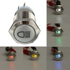 5 Pin 19mm LED Push Button Metal Latching Switch W/ Car Fog Lights ON/OFF 1NO1NC