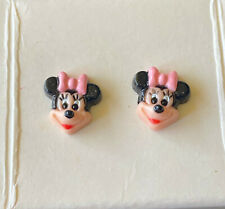 New in Box Disney Vintage 1988 New Avon Totally Minnie Mouse Pierced Earrings