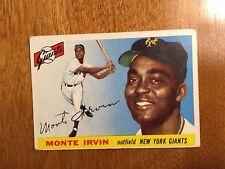 1955 Topps Set Break Up Monte Irvin #100 New York Giants Baseball Card