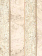 Alternating Crackle and Faux Marble Stripes Wallpaper in Browns & Taupes TS38006