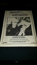 Tom Petty And The Heartbreakers Rare Change Of Heart Rare Promo Poster Ad Framed