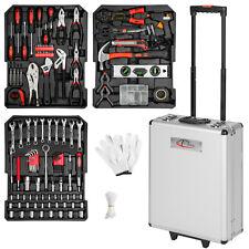577 piezas maleta de herramientas trolley caja martillo alicates maletin plata