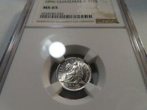 W76 Guatemala 1896 1/2 Real NGC MS-65