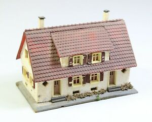 H0 Faller 254 Doppelhaus Holz & Kunststoff