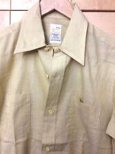 Vintage British Imperial Mens Mid Century Mod Yellow Dress Shirt NOS M 15-15 1/2