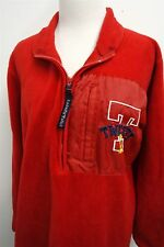 LOONEY TUNES TWEETY BIRD red 1/2 zip fleece sweater jacket coat sz M womens#4662