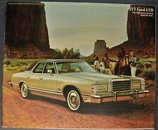 1977 Ford LTD Brochure Landau Hardtop Country Squire Wagon Excellent Original 77