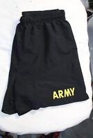 Army Shorts Physical Fitness Uniform APFU Black Small PT Uniform USGI