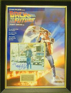 Michael J Fox Back to the Future Signed Display Framed with AFTAL COA Autograph