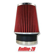 """Red Universal Narrow Cone Truck Cold Air Filter Replacement (3.5"""" / 89 mm)"""