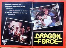 fotobuste lobby card DRAGON FORCE MICHAEL KING BRUCE LI MOORE CINEMA