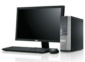 "Dell Optiplex 7010 SFF i3 3.3GHz CPU 256GB SSD 8GB RAM 19"" LCD Monitor"