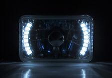 "4x6"" Halogen Semi Sealed H4 LED Angel Eye Clear Headlight Conversion and Bulbs"