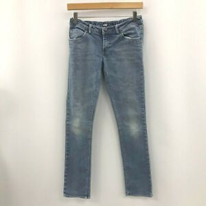 Levi Strauss Jeans Size UK 14R Mid Rise Style Denim Light Blue Casual 011991