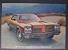 1972 Oldsmobile Delta 88 Royale Postcard Brochure Excellent Original 72