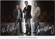 TOP GEAR - HAMMOND & MAY & CLARKSON AUTOGRAPHED SIGNED A4 PP POSTER PHOTO