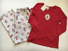 Munki Munki New Merry Christmas Pajama set Pants & Top XL Red Blue Feliz Noel