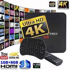 Pro S905X Android 6 Smart TV BOX Marshmallow Quad Core 8GB 4K WIFI + keyboard