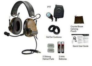 NEW' - 3M Peltor ComTac III ACH Single Comm Headset w/ PTT