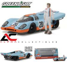 "CASE GREENLIGHT 86435 1:43 1970 PORSCHE 917K ""GULF"" #20 W/ STEVE MCQUEEN FIGURE"