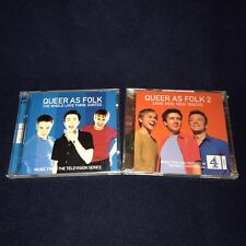QUEER AS FOLK UK Soundtracks 1 & 2 Lot! 4 DISCS, 66 Tracks! BRAND NEW CD Import!