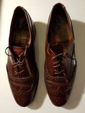 """Vintage Royal Windsor Oxblood """" Grenson """" Men's 10.5D Uk Leather Wing Tip Shoes"""