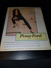 Penny Ford I'll Be There Rare Original Radio Promo Poster Ad Framed!