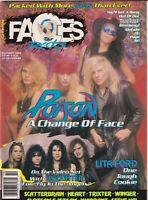 Faces Rocks Magazine Poison Lita Ford Slaughter October 1990 100219nonr