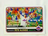 2020 TOPPS BIG LEAGUE #287 PETE ALONSO RC  ROOKIE CARD NEW YORK METS
