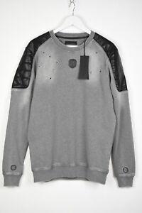 RRP $160 FRANKIE MORELLO FELPA M/L LARA Men MEDIUM Distressed Sweatshirt 13675