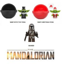 MANDALORIAN Lot of 3 Includes Baby Detective and Christmas Yoda with Mando