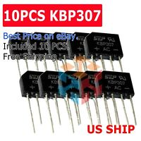 10PCS Bridge Rectifier KBP307 Full Wave 700Volts 3Amp Three Flat Rectifiers N240