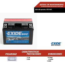 BATERIA DE MOTO MARCA EXIDE YTZ14-BS (Ref Exide ETZ14-BS) ENVIO GRATIS 24H