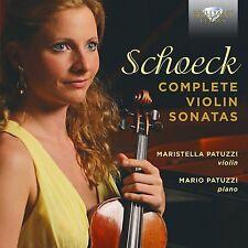 Maristella/Patuzzi, Mario Patuzzi-Complete Violin Sonatas CD NUOVO Schoeck, Othmar