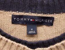 Mens Tommy Hilfiger M Medium Multicolor Striped Sweater Pullover Crewneck LS EUC