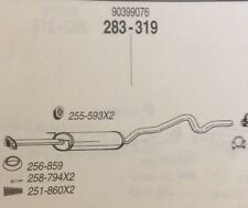 Cat 283 319 Vauxhall Astra 1.7 DIESEL 10/91-92  (+further details in desc)