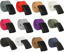 Cinturón de Lona Mens Cintura Cinturón Hebilla Negro Ajustable Correas De Algodón Unisex Ejército