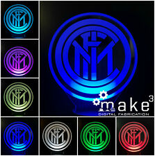 Lampada 3D Led Inter (Calcio Club Football Nuovo Logo Laser Multicolor Milano)