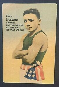 1940's Pete Herman Vintage Business Card Night Club Bar New Orleans Champ Boxer